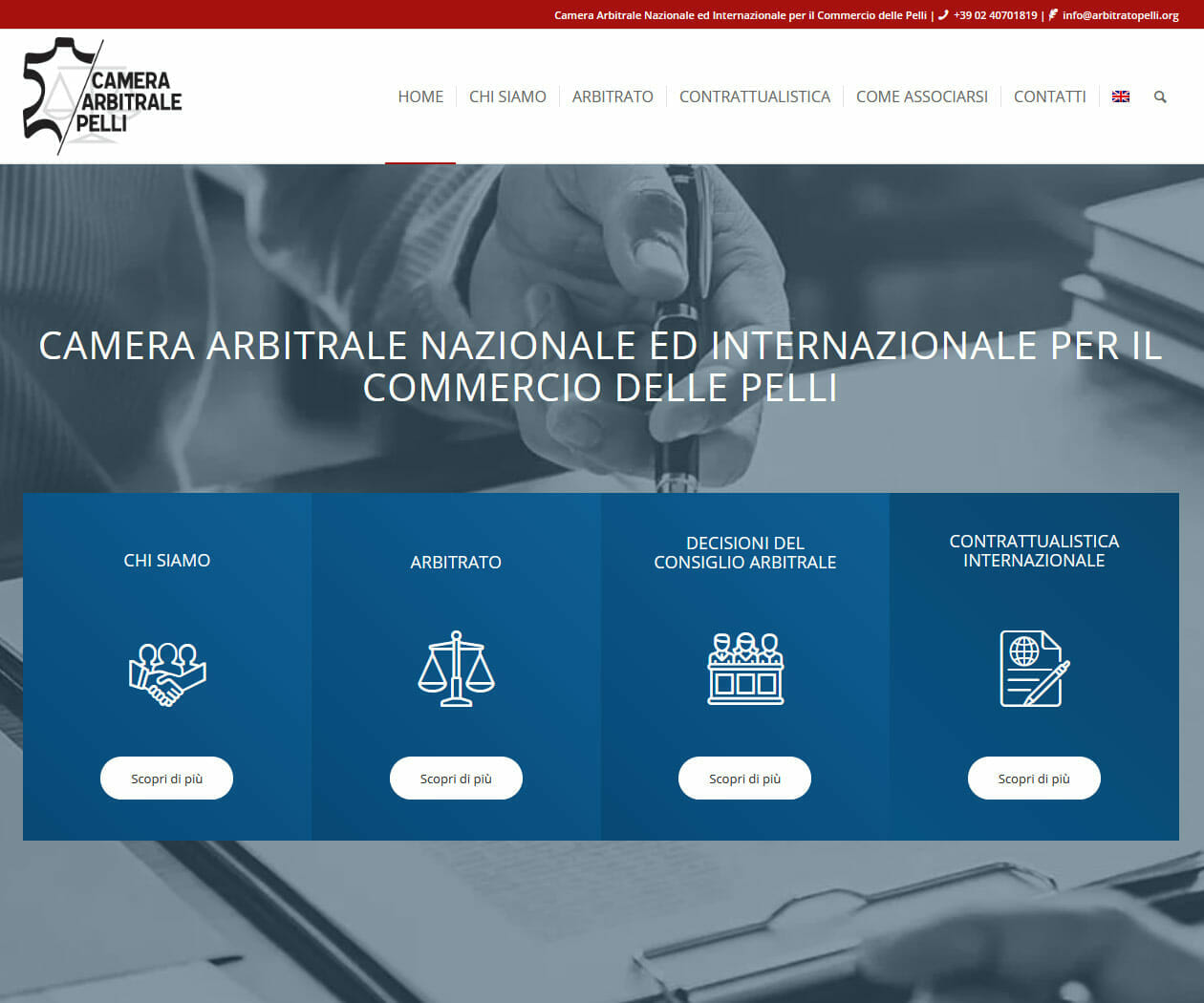 Sito Web Camera Arbitrale Pelli