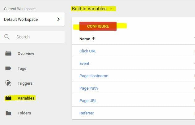 Tracciare i click con Google Tag Manager